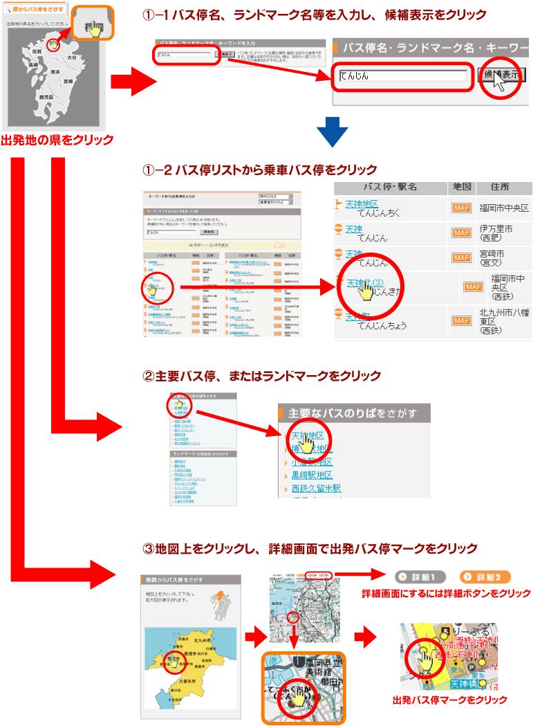 九州のバス時刻表ご利用案内2